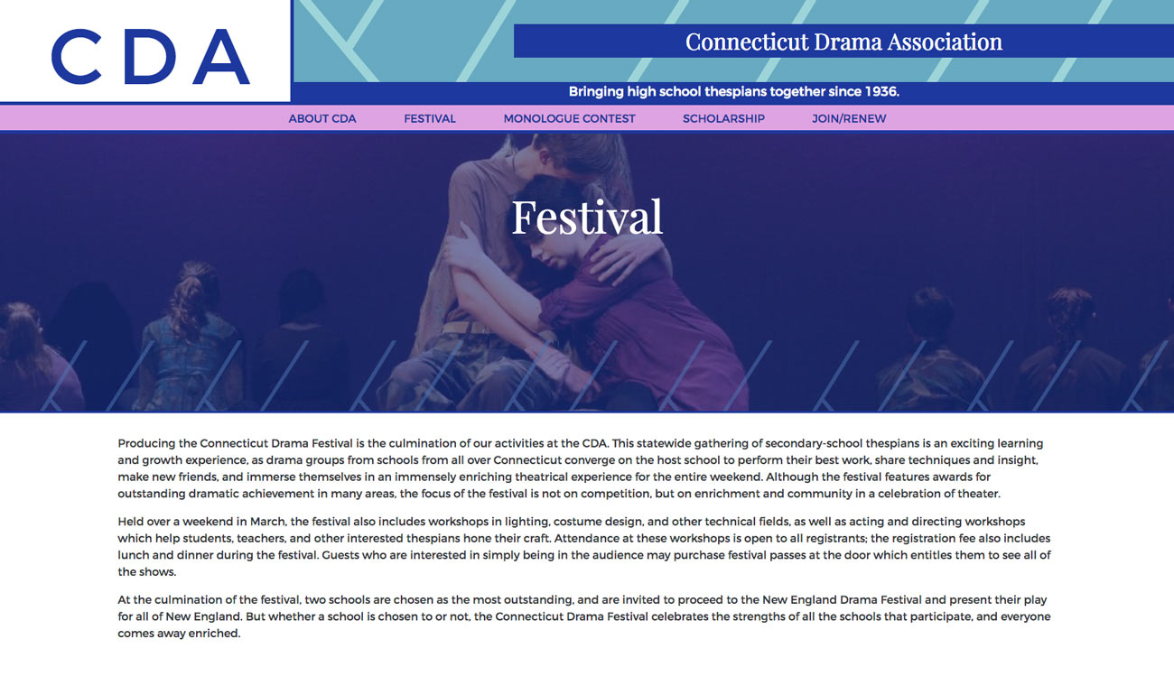 Connecticut Drama Association interior page