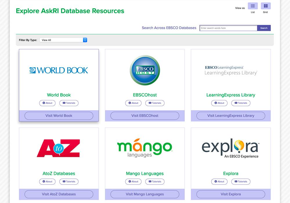 AskRI homepage